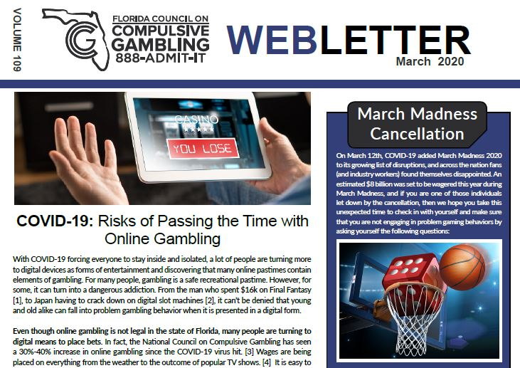 March Webletter 2020