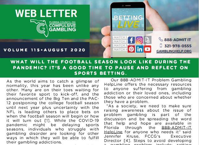 August Web Letter 2020