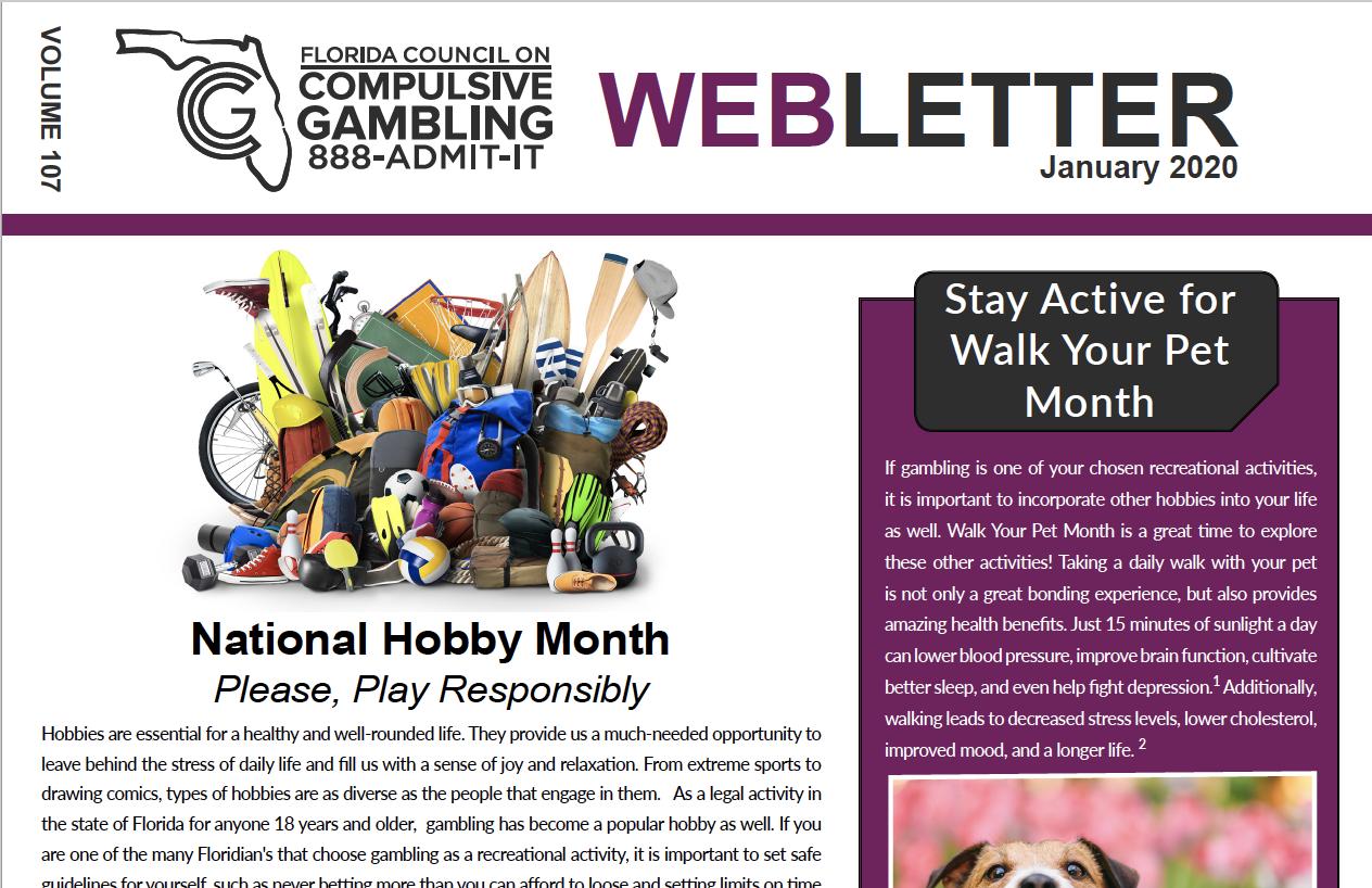 January Webletter 2020