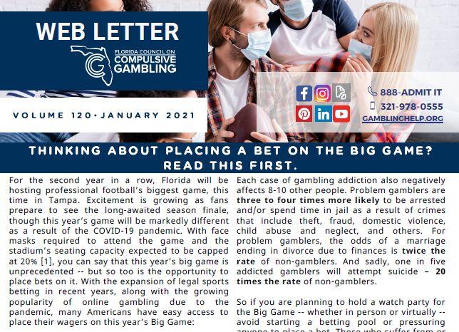 January Web Letter 2021
