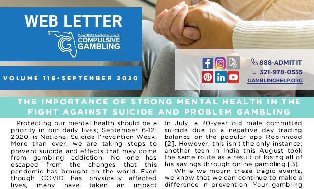 September Web Letter 2020