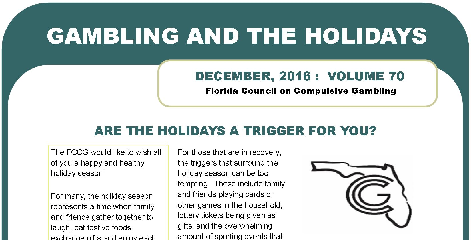 December Webletter 2016