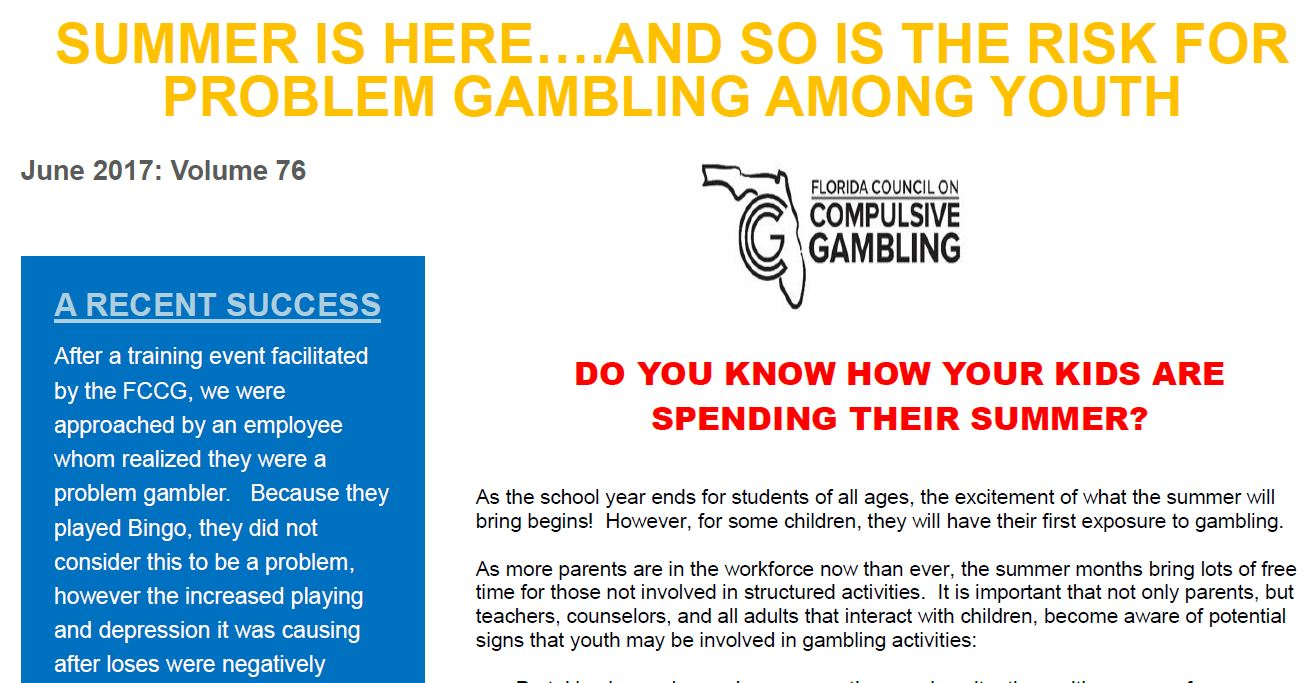 Compulsive council florida gambling problem nba basketball gambling